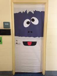 snowman door decorations bumble the abominable snowman classroom door decoration pinteres