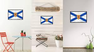 Home Decor Canada by Nova Scotia Province City Canada Country Vintage Flag Home Decor