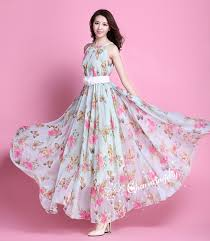 flower dress 60 colors chiffon butterfly pink flower party evening
