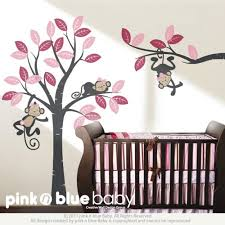 Nursery Monkey Wall Decals Wall Decal Monkeys On The Tree Baby Nursery Wall Decals