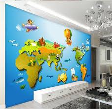 Kids World Map by Online Get Cheap Wallpaper Mural World Map Kids Aliexpress Com