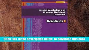 read online leveled vocabulary and grammar workbook guided