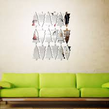 Mirror Wall Decals And Wall by Aliexpress Com Buy 18pcs Christmas Tree Mirror Wall Sticker Wall
