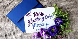 freebie rustic greeting card mockup every tuesday