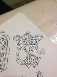 flash anchor butterfly traditional
