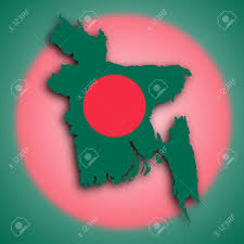 Bangladesi Flag Map Of Bangladesh Faso Filled With The National Flag Stock Photo