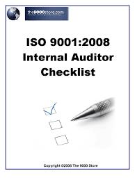 iso 9001 internal audit checklist audit iso 9000 as9100c ppt