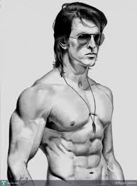 hrithik roshan krrish 3 pencil sketch touchtalent for