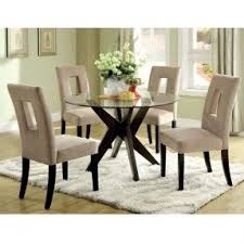 Round Glass Top Dining Table Sets Foter - Glass top tables for kitchen