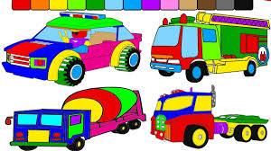 super monster truck coloring pages coloring video for kids to
