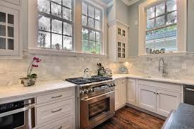 Modern Backsplash Ideas For Kitchen Kitchen Room White Tumbled Marble Backsplash Marble Splash How