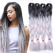 gray hair braided styles pin by khaar hma on tresses pinterest kanekalon braiding hair