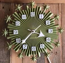 Weird Wall Clocks by Vtg 50s 60s Plastic Starburst Atomic Wall Clock Mid Century Modern