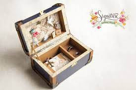 wedding rings in box travel themed wedding ring box signature s wedding ring box