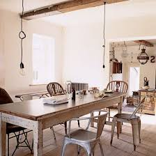 Cottage Chic Kitchen - wood finishes dining table for shabby chic kitchen designing a