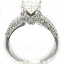 wedding rings princess cut white gold 14k white gold princess cut