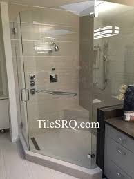 Bathroom Tile Trim Ideas Decorating Chic Glass Shower Door With Schluter Strip Matched