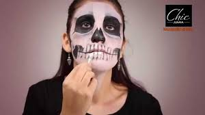 halloween makeup tutorial skeleton skeleton halloween makeup tutorial youtube