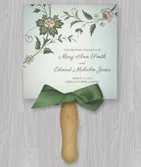 Program Fan Template Watercolor Flowers Program Fan Template U2013 Download U0026 Print