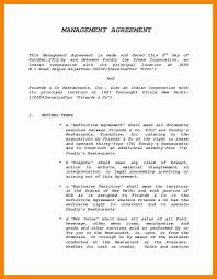management contract template 16 management contract templates