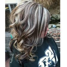silver hair with blonde lowlights highlights lowlights insta ashbincolor brunette blonde highlites