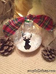 go with paint on a clear ornament filled with snow