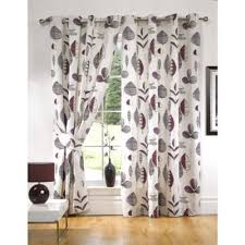 Aubergine Curtains Buy Kliving Floral Riva Aubergine Lined Eyelet Curtains 45x72