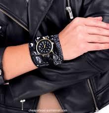 bandana wristband fashion rock wrist fabric style bandana black paisley