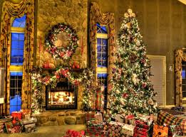 fireplace christmas decorations images music instrumental garland