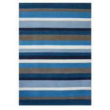 Modern Rug by Blue Striped Modern Wool Rug Kingston Kukoon