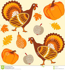 dinde thanksgiving autumn thanksgiving seamless background with turke stock photo