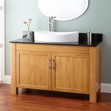 bathroom dark brown narrow depth bathroom vanity with shutter
