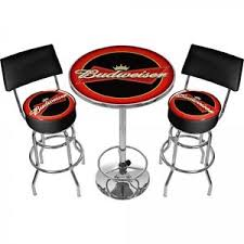 man cave table and chairs budweiser bar stools and table set man cave 360 degree swivel padded