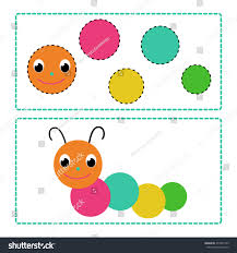 simple applique kids early child development stock vector