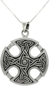 cross pendant chain necklace images Jewelry trends silver celtic medallion cross pendant with 18 inch jpg