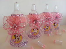 babyshower decorations 12 minnie mouse pink fillable bottles baby shower favors prizes
