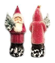 beaded ino schaller german paper mache santa ornament ino