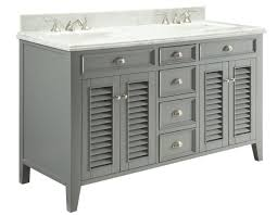 Cottage Bathroom Vanity by 60 Inch Double Sink Grey Cottage Bathroom Vanity Carrara Marble