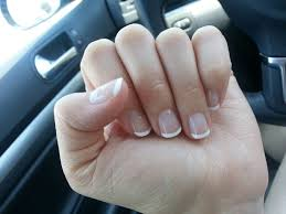 beautiful natural french tip gel manicure no acrylics fills