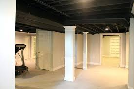 lighting on exposed beams exposed basement ceiling as well as exposed beam ceiling basement