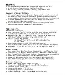 Resume Samples For Network Engineer by 6 Network Engineer Resume Templates Download Documents In Pdf