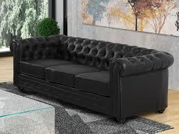 canapé imitation chesterfield canapé et fauteuil en simili noir ou blanc chesterfield
