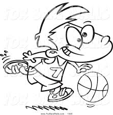 printable illustration coloring basketball boy