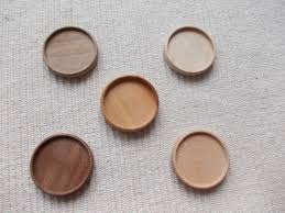 5 pc unfinished mix wooden brooch pendant base by magicwoodenjewel