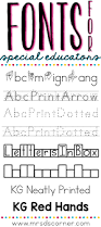 fonts for special educators mrs d u0027s corner