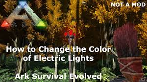 ark survival evolved how to change the color of the electric
