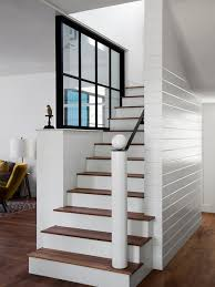Replace Banister With Half Wall Half Wall Stair Ideas Houzz