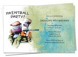 belle announces paintball party invitation