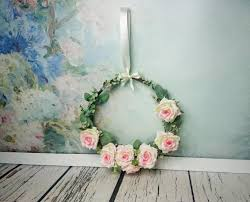 Romantic Home Decor Wedding Floral Rustic Greenery Wreath Centerpiece Hanging Backdrop
