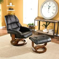 surprising leather swivel recliner chair and ottoman ideas w stool